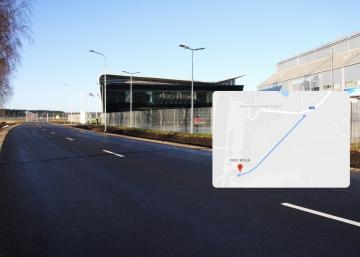 Reconstruction of the Road to FBO RIGA is now completed